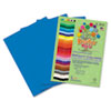 RLP73902 Premium Sulphite Construction Paper, 76 lbs., 12 x 18, Blue, 50/Pack RLP 73902