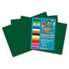 RLP61102 Heavyweight Construction Paper, 58 lbs., 12 x 18, Dark Green, 50 Sheets/Pack RLP 61102