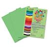 RLP74902 Premium Sulphite Construction Paper, 76 lbs., 12 x 18, Lime Green, 50/Pack RLP 74902