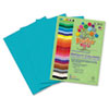 RLP76001 Premium Sulphite Construction Paper, 76 lbs., 9 x 12, Turquoise, 50/Pack RLP 76001