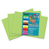 RLP65502 Heavyweight Construction Paper, 58 lbs., 12 x 18, Bright Green, 50 Sheets/Pack RLP 65502