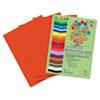 RLP74602 Premium Sulphite Construction Paper, 76 lbs., 12 x 18, Red, 50/Pack RLP 74602