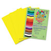 RLP72902 Premium Sulphite Construction Paper, 76 lbs., 12 x 18, Yellow, 50/Pack RLP 72902