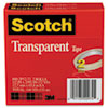 MMM6002P1272 Transparent Tape 600-2P12-72, 1/2