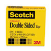 MMM66512900 Double Sided Office Tape, 1/2