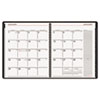 AAG70120X05 Contemporary Wirebound Monthly Planner, 6-7/8 x 8-3/4, Black, 2015 AAG 70120X05