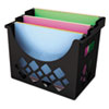 UNV08123 Recycled Desktop File Holder, Plastic, 13 1/4 x 8 5/8 x 10 3/4, Black UNV 08123