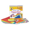 PAC72230 Origami Paper, 30 lbs., 9-3/4 x 9-3/4, Assorted Bright Colors, 55 Sheets/Pack PAC 72230