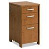 BSHPR76380 Envoy Series Three-Drawer Pedestal, 16w x 20d x 30-1/4h, Natural Cherry BSH PR76380