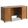 BSHPR76360A2 Envoy Double Pedestal Desk, 58w x 23-1/4d x 30-1/4h, Natural Cherry, Box 2 of 2 BSH PR76360A2