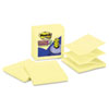 MMMR440YWSS Super Sticky Pop-Up Refills, 4 x 4, Canary Yellow, Lined, 5 90-Sheet Pads/Pack MMM R440YWSS