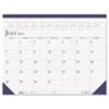HOD155HD Two-Color Academic 14-Month Desk Pad Calendar, 22 x 17, 2012-2013 HOD 155HD
