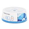 MEM98683 Blu-Ray BD-R Recordable Disc, 25GB, 6x Recording Speed, 15/Pack MEM 98683