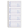 TOP4003 Spiralbound Message Book, 2 3/4 x 5, Two-Part Carbonless, 400/Book TOP 4003