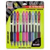 ZEB46881 Sarasa Retractable Gel Pen, Assorted Ink, Medium, 10 per Set ZEB 46881