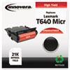 IVR83640TMICR 83640TMICR Remanufactured, 64015HA(M) (T640) MICR Toner, 21000 Yield, Black IVR 83640TMICR