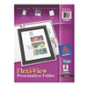 AVE47847 Flexi-View Two-Pocket Polypropylene Folder, Translucent Black, 2/Pack AVE 47847