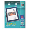 AVE47851 Flexi-View Cover, Swing Clip, Letter, Holds 25 Pages, Clear/Navy, 2/Pack AVE 47851
