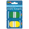 RTG74007 Write-On Self-Stick Index Tabs/Flags, Pop-Up, 1 7/10 x 1, 2 Colors 72/Pack RTG 74007