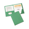 AVE47977 Paper Two-Pocket Report Cover, Tang Clip, Letter, 1/2