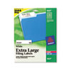 AVE5027 Extra-Large 1/3-Cut Filing Labels, 15/16 x 3-7/16, White, 450/Pack AVE 5027