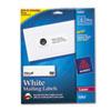 AVE5262 Easy Peel Laser Address Labels, 1-1/3 x 4, White, 350/Pack AVE 5262
