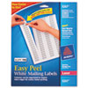 AVE5267 Easy Peel Laser Address Labels, 1/2 x 1-3/4, White, 2000/Pack AVE 5267