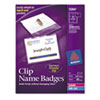 Avery Name Badge Holders with Laser/Inkjet Inserts