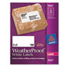 AVE5523 White Weatherproof Laser Shipping Labels, 2 x 4, 500/Pack AVE 5523