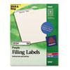 AVE5666 Self-Adhesive Laser/Inkjet File Folder Labels, Purple Border, 750/Pack AVE 5666