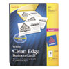 AVE5870 Clean Edge Laser Business Cards, White, 2 x 3 1/2, 10/Sheet, 2000/Box AVE 5870