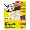 AVE6460 Removable Inkjet/Laser ID Labels, 1 x 2-5/8, White, 750/Pack AVE 6460