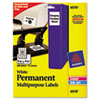 AVE6570 Permanent ID Laser Labels, 1-1/4 x 1-3/4, White, 480/Pack AVE 6570