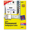 AVE6572 Permanent ID Laser Labels, 2 x 2-5/8, White, 225/Pack AVE 6572