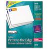 AVE6870 Return Address Labels for Color Laser & Copier, 3/4 x 2-1/4, Matte White, 750/PK AVE 6870