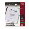 AVE74098 Top-Load Poly Sheet Protectors, Economy Gauge, Letter, Semi-Clear, 50/Box AVE 74098