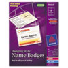 Name badge holders in a neck hanging-style with laser/inkjet inserts.