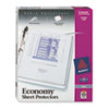 AVE75091 Top-Load Poly Three-Hole Sheet Protectors, Economy Gauge, Letter, 100/Box AVE 75091
