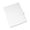 White legal index dividers with reinforced, dual-sided white side tabs.