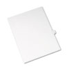 AVE82179 Allstate-Style Legal Side Tab Divider, Title: Q, Letter, White, 25/Pack AVE 82179