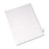AVE82186 Allstate-Style Legal Side Tab Divider, Title: X, Letter, White, 25/Pack AVE 82186