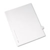 AVE82204 Allstate-Style Legal Side Tab Divider, Title: 6, Letter, White, 25/Pack AVE 82204