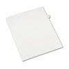 AVE82205 Allstate-Style Legal Side Tab Divider, Title: 7, Letter, White, 25/Pack AVE 82205