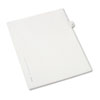 AVE82217 Allstate-Style Legal Side Tab Divider, Title: 19, Letter, White, 25/Pack AVE 82217