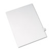 AVE82219 Allstate-Style Legal Side Tab Divider, Title: 21, Letter, White, 25/Pack AVE 82219