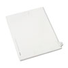 AVE82225 Allstate-Style Legal Side Tab Divider, Title: 27, Letter, White, 25/Pack AVE 82225