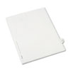AVE82228 Allstate-Style Legal Side Tab Divider, Title: 30, Letter, White, 25/Pack AVE 82228