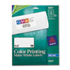 AVE8253 Inkjet Labels for Color Printing, 2 x 4, Matte White, 200/Pack AVE 8253
