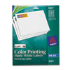 AVE8257 Inkjet Labels for Color Printing, 3/4 x 2-1/4, Matte White, 600/Pack AVE 8257