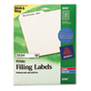 AVE8366 Permanent Self-Adhesive Laser/Inkjet File Folder Labels, White, 750/Pack AVE 8366